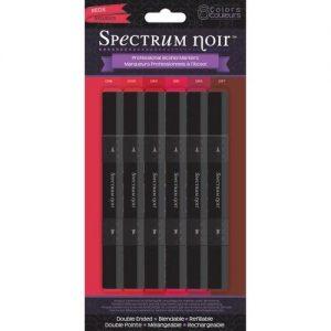 SET 6 ROTULADORES SPECTRUM NOIR RED