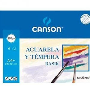 PAPEL ACUARELA Y TÉMPERA CANSON