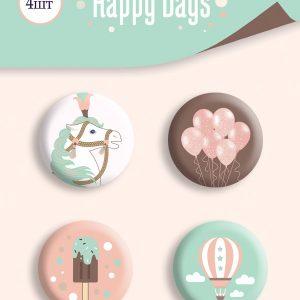 BOTONES HAPPY DAYS