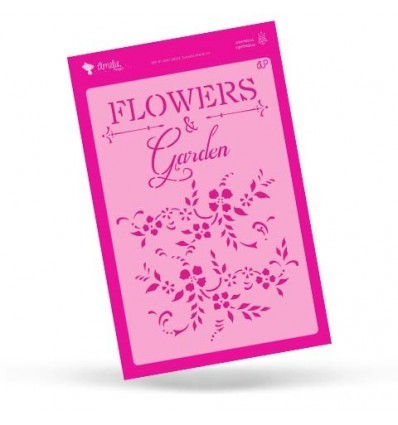 STENCIL FLOWERS & GARDEN