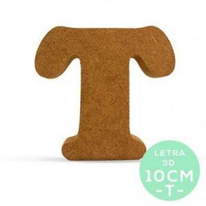LETRA T DM 10 cm.