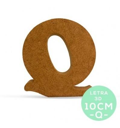 LETRA Q DM 10 cm.