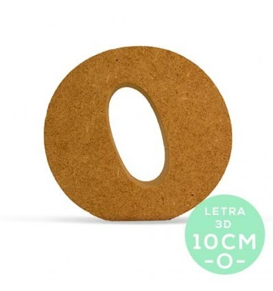 LETRA O DM 10 cm.