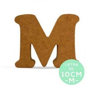 LETRA M DM 10 cm.