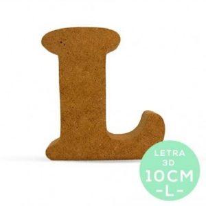 LETRA L DM 10 cm.