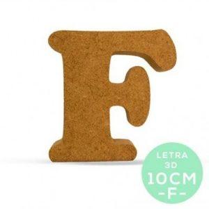 LETRA F DM 10cm.