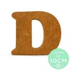 LETRA D DM 10 cm.