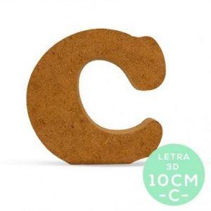 LETRA C DM 10cm.
