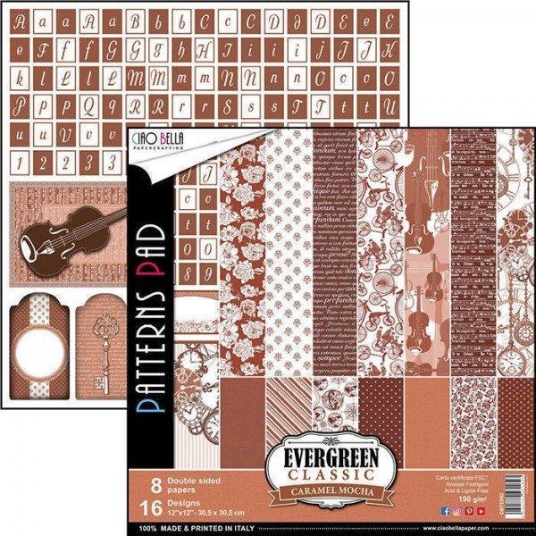 "Patterns Classic Caramel Mocha 12"""