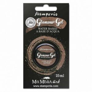 PINTURA GLAMOUR GEL DARK WOOD